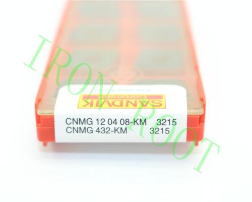 Sandvik 10Pcs CNMG120408-KM CNMG432-KM 3215 CNC New Carbide Insert