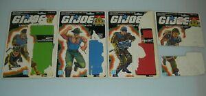 Lot 1989 GI Joe Sgt Slaughters Marauders Figure Full Uncut File Card Back Set