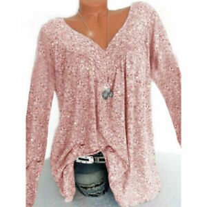 Ladies-Long-Sleeve-Baggy-Tunic-Blouse-Size-Womens-Loose-Boho-Plus-Tops-T-Shirt