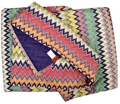 Missoni Home Trapuntino Copriletto Timothy 100 260x270cm Springtime Collection Squisita Arte Tradizionale Del Ricamo