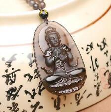 """Natural ice kinds of obsidian pendant """"Tathagata Buddha"""" patron saint"""