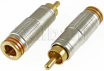 Gold Plated Red RCA Plug Connector 15-1625
