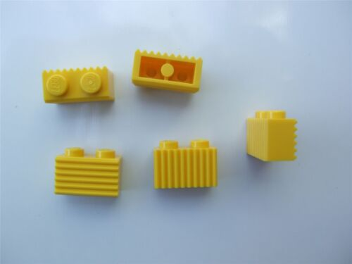 Parts /& Pieces size 1x2 – 287724 5 x Lego yellow profile bricks