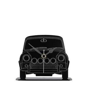 Mini-Cooper-Car-Front-View-Mantel-Clock-Acrylic-Made-in-Cornwall-MC-B-MIF01