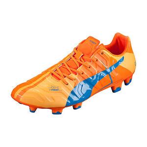 f099ca4d2960 Puma Men s EvoPower 1 H2H FG Orange Clown Fish Electric Blue ...