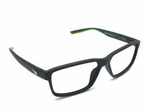 Gama de acortar apoyo  NIKE 7092 001 Men's Matte Black Green Square Eyeglasses Frames Sport 55-14  140 | eBay