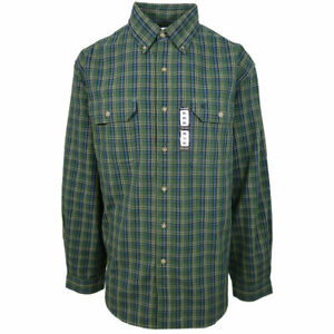 Retail $45 Carhartt Men/'s S20 Blue Plaid L//S Woven Shirt XLT