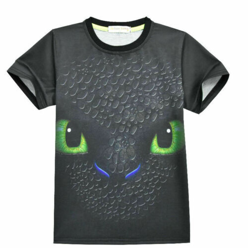 Boys HOW TO TRAIN YOUR DRAGON Toothless 2-Piece T-Shirt Shorts Pants Set ZG9