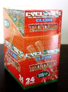 Cyclone Clear Flavored RockStar King Size Pre Rolled Cones~24 Count~Sealed Box