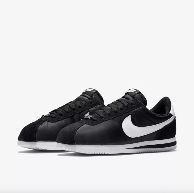 Nike Cortez Basic Nylon Men's Shoes black/white-metallic silver 819720 011
