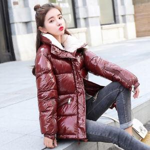 skinnende frakke bomuldsvarm langermet solidfarve Kvinders Hot E1 Chic mode polstret 40qvTd