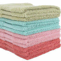 2 Pcs 100% Cotton Face Towels Cloth Flannels Wash Cloths Gift Packed 34 x 34cm