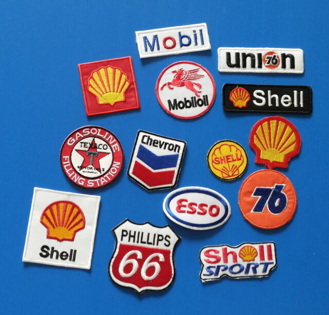 14 Lot Collectibles  GASOLINE MOTOR OIL  Embroidered  Iron On Patches FREE SHIP