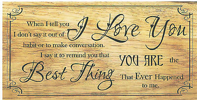 Beautiful wooden plaques, shabby handmade signs gifts Love