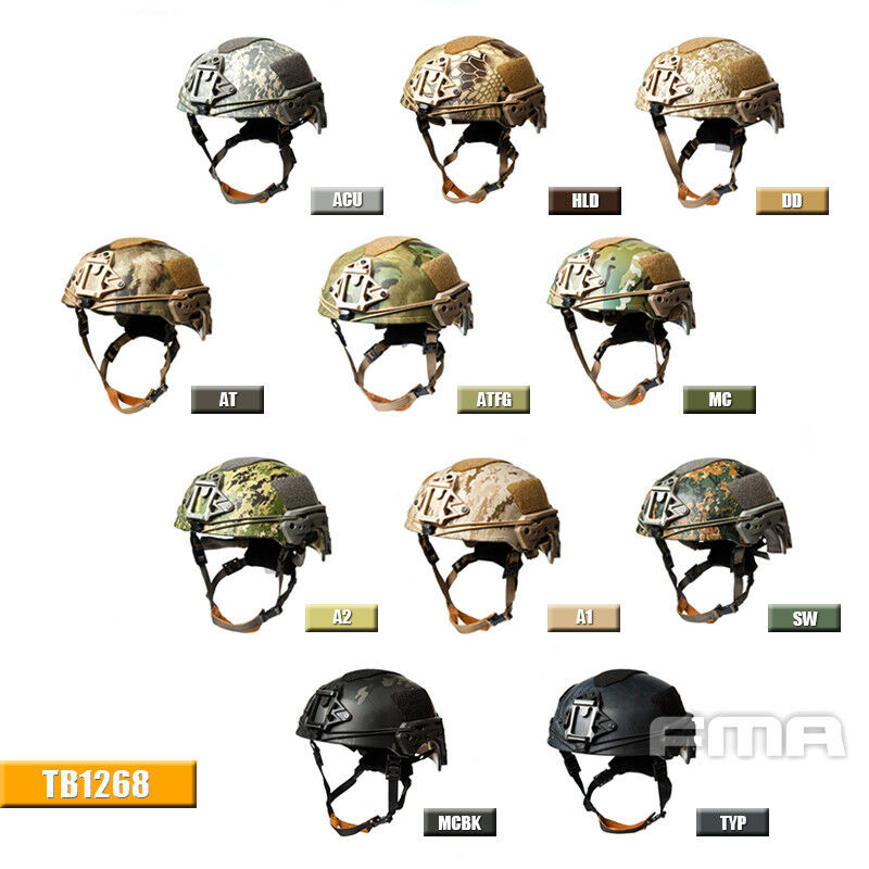 FMA airsoft paintball Tactical TWF EX casco antibalas Montañismo Camuflaje