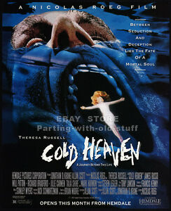 COLD-HEAVEN-Original-1992-print-AD-movie-promo-MARK-HARMON-THERESA-RUSSELL