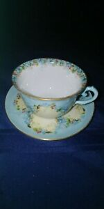 Handpainted-Limoges-TeaCup-and-Saucer