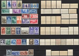 537-Repubblica-Lotto-di-36-francobolli-1946-49-Nuovi-MNH