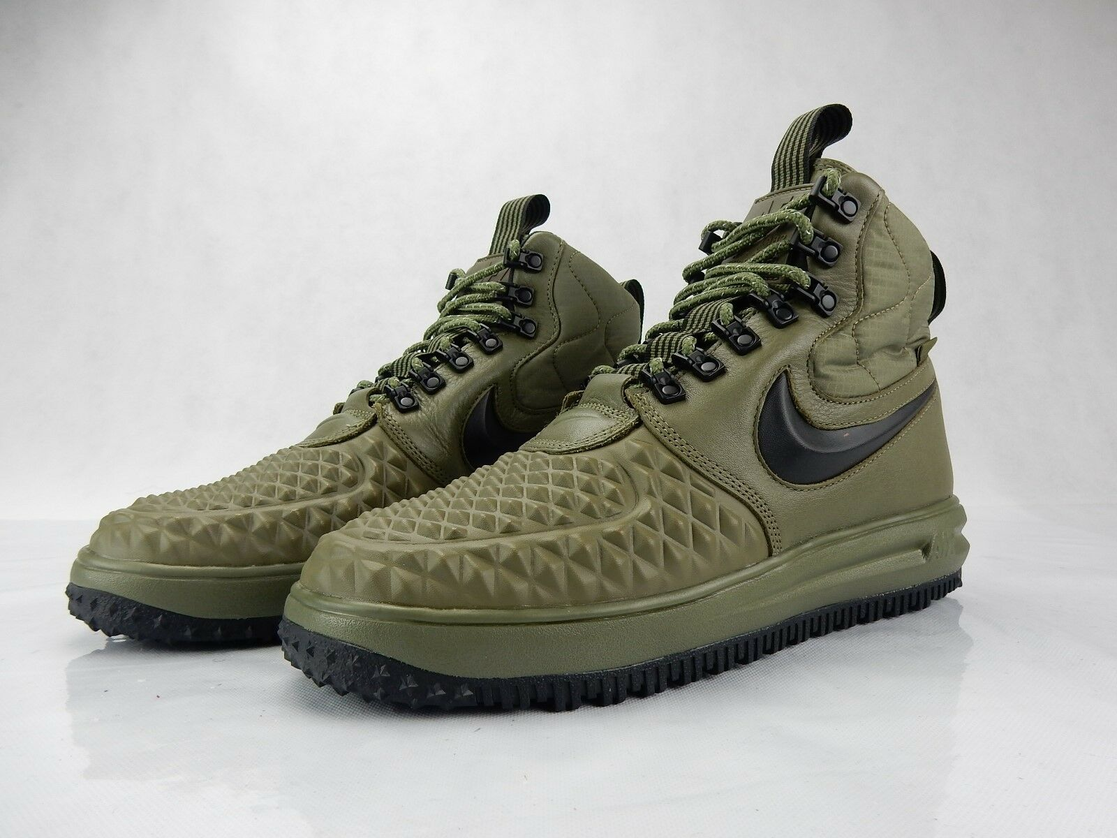Nike Air Lunar Force 1 Duckboots 916682 202 S Size Shoes Olive Black Mens Size S 10 2f7abc