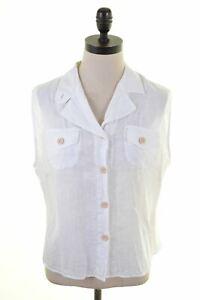 TIMBERLAND-chemise-femme-sans-manches-grande-taille-en-lin-blanc-DM02