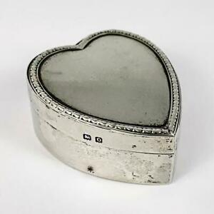 GEORGE-V-STERLING-SILVER-Love-Heart-PILL-TRINKET-BOX-Birmingham-1913