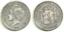 ALFONSO XIII 5 PESETAS DE PLATA 1893*(-8-93) MADRID PG-V (MBC-)