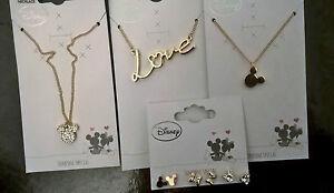 DISNEY-MICKEY-MOUSE-Jewellery-Jewelry-Necklace-Pendant-Earrings-Primark