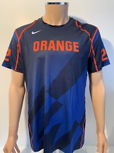 sale retailer 1b603 bec97 Details about NEW Syracuse Orange Nike Lacrosse Game Compression Shirt  Jersey Men's Large NCAA