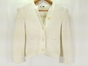 Cream Ll Womens Forreste Bean Sparkly Knit Small Color Sweater Button qa8vHwnq