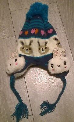 Avere Una Mente Inquisitrice Rabbit Baby Bobble Cappello Inverno Caldo Pelliccia Ragazze Beanie Cap Neonato 6-12 Mese- Elegante Nello Stile
