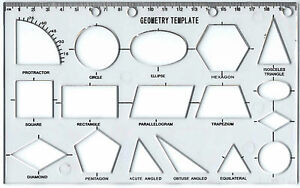 geometry stencil technical drawing template shape ks1 ks2 ks3 maths
