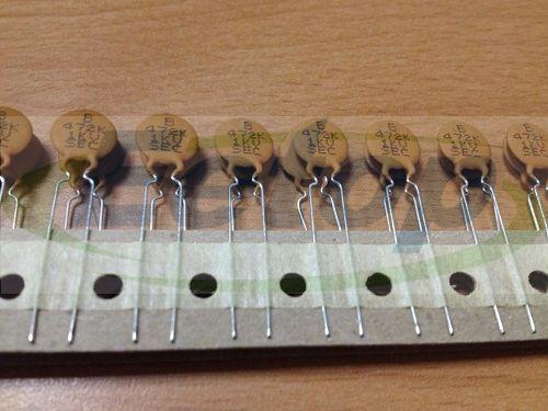 50PCS X Disc Ceramic Capacitor 4700PF 472 1KV 10/% Y5P Pitch:5mm D:10mm Taiwan