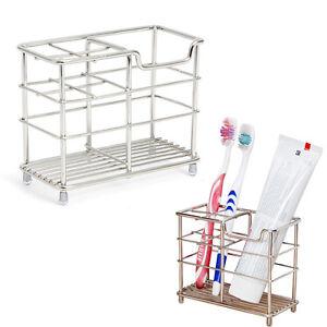 Badezimmer Organizer | Edelstahl Zahnburstenhalter Zahnpasta Rasiermesser Stand Badezimmer