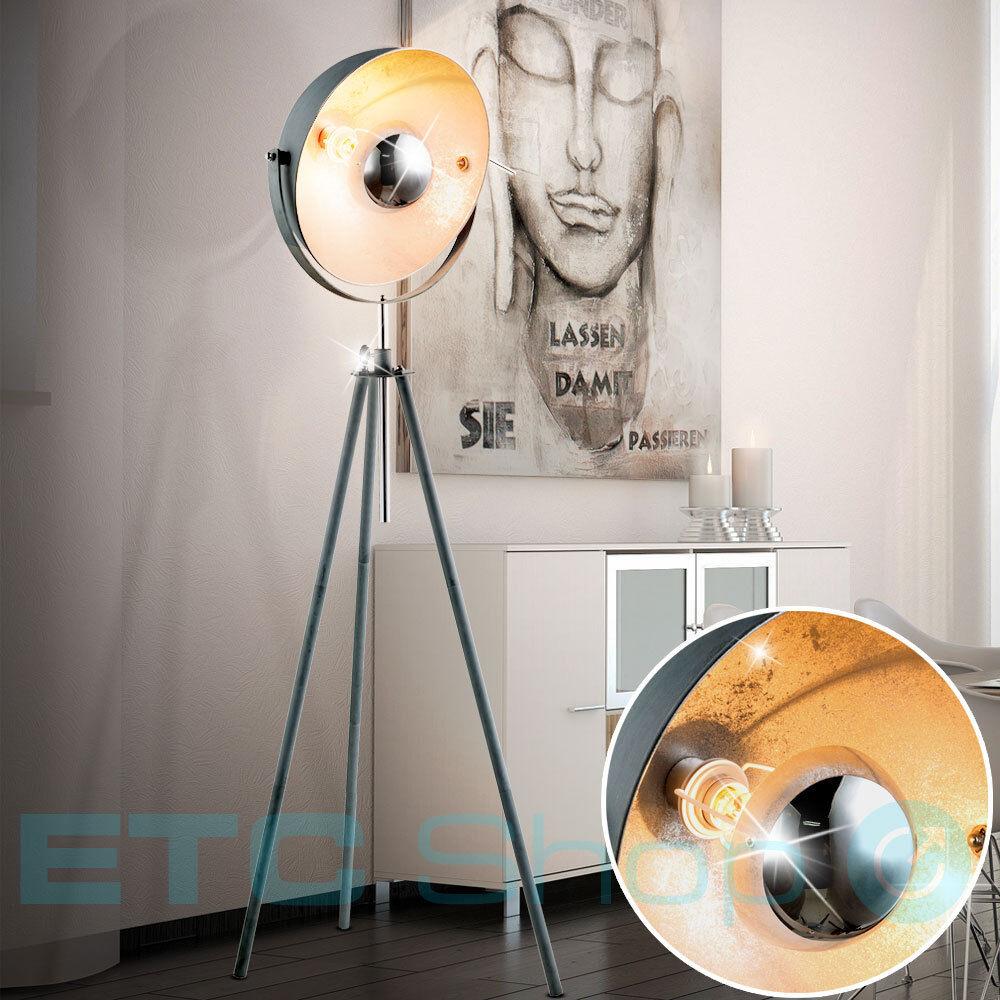 Lampadaire Salon Ciment Design Lampe de bureau à hauteur réglable Spot pivotant