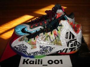 new style 3a3bc 66ea1 Image is loading Nike-Lebron-XI-Premium-WTL-What-The-Lebron-