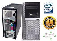 Dell Tower Windows Pro Xp Sp3 Computer Intel Core 2 Duo 4GB RAM 1TB DVD-Rom