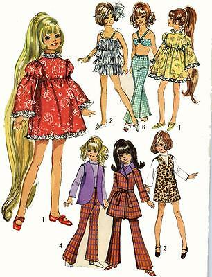 Velvet Simplicity 9698-17 1//2 inch doll clothes pattern Kerry etc Crissy