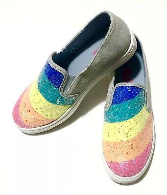 JoJo Siwa Blue Denim Rainbow Glitter