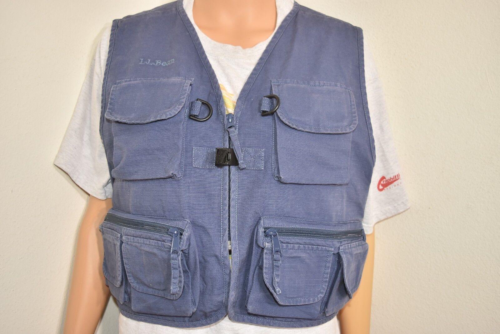 LL Bean Womens Hunting Fishing Vest bluee Cotton Photography vest vest vest Size Small e0d722