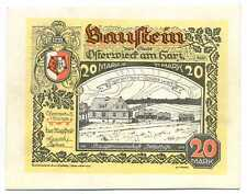 Germany Notgeld Osterwieck-Harz LEATHER 20 Mark 1.5. 1922 XF++ #350a RARE