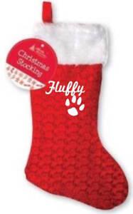 image is loading personalised pet christmas stocking paw print rabbit name - Christmas Pet Names