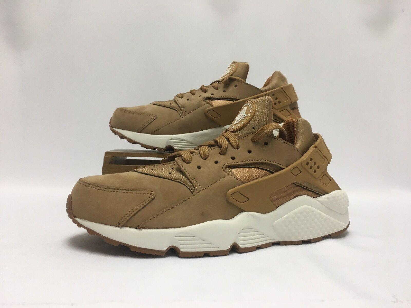 Nike Air Huarache Running shoes Flax Wheat Gum Brown 318429-202 Men's NWOB