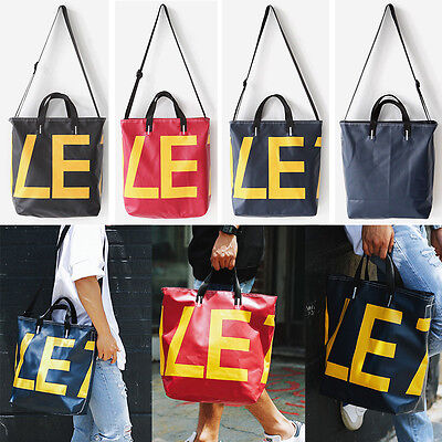 New Fashion LE Tote Shoulder Cross Messenger Bag Unisex Tarpaulin Waterproof
