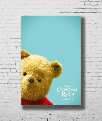 P35 Art Christopher Robin New Movie Winnie The Pooh Poster 14x21 24x36 32x48inch