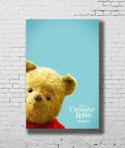 P35 Art Christopher Robin New Movie Winnie The Pooh Poster 14x21 24x36 32x48inch