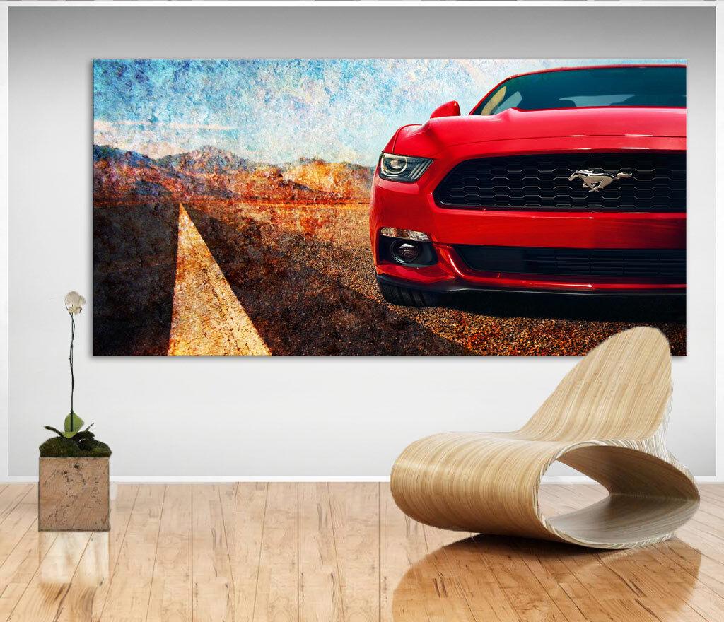 Ford Mustang Eleanor Auto Sportwagen Bild Leinwand Bilder Wandbilder D0356