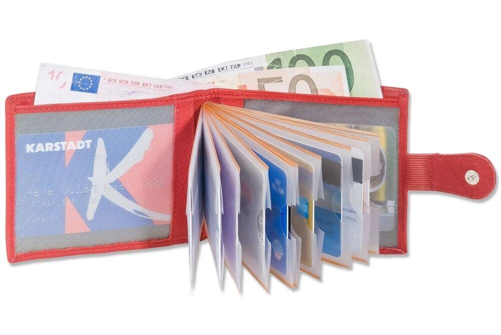 + Super kompakte Minibörse mit Außen-Kleingeldfach Rimbaldi Geldbörse Geldbeutel