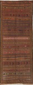 Hand-Woven-Wool-Geometric-Tribal-Kilim-Suzani-Oriental-Runner-Rug-5x12
