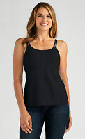 Amoena 'valletta' Post Surgery Pocketed Mastectomy Strappy Camisole Top - Black