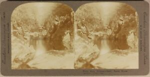 UK-Fairy-Glen-North-Wales-Foto-Stereo-Vintage-Citrato-c1900